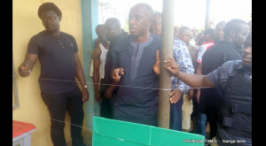 Rotimi Amaechi at polling unit in Ikwere Local Government Area | Photo Credit: PREMIUM TIMES