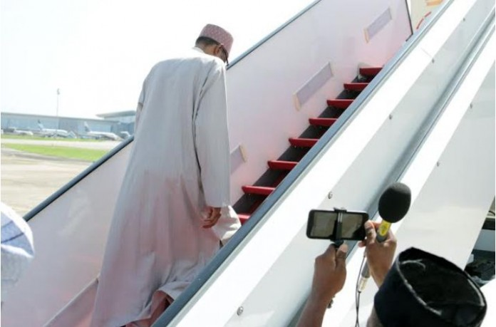 Buhari arrives Abidjan for EU-AU summit