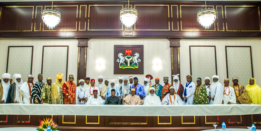 3. President &VP receives National Council of Traditional Rulers of Nig by NOVO ISIORO3
