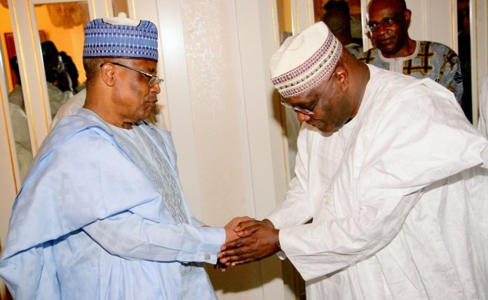 Babangida receives Atiku in Minna