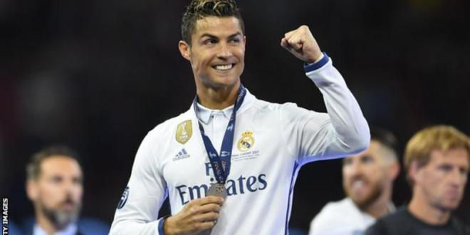 Ronaldo wins Ballon d'Or award for joint-record fifth time