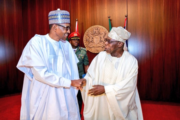 Buhari meets with Obasanjo, Jonathan, Governors over Insecurity
