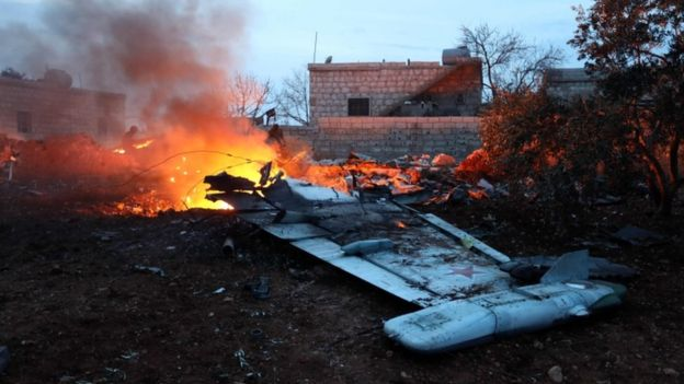 Russian transport plane crashes in Syria, 32 dead