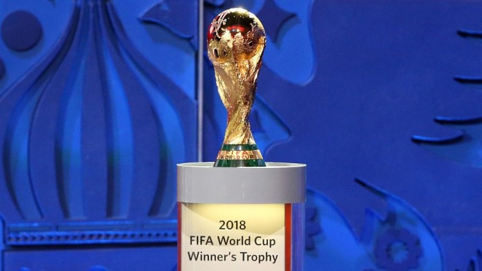 President Muhammadu Buhari receives Fifa Wold Cup trophy