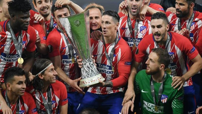 Atletico Madrid charged for far-right banner at Europa final