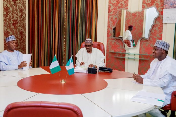 Buhari meets Saraki, Dogara in Aso Rock