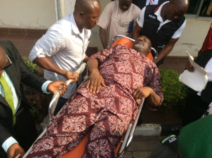 Dino Melaye ordered remanded in National Hospital