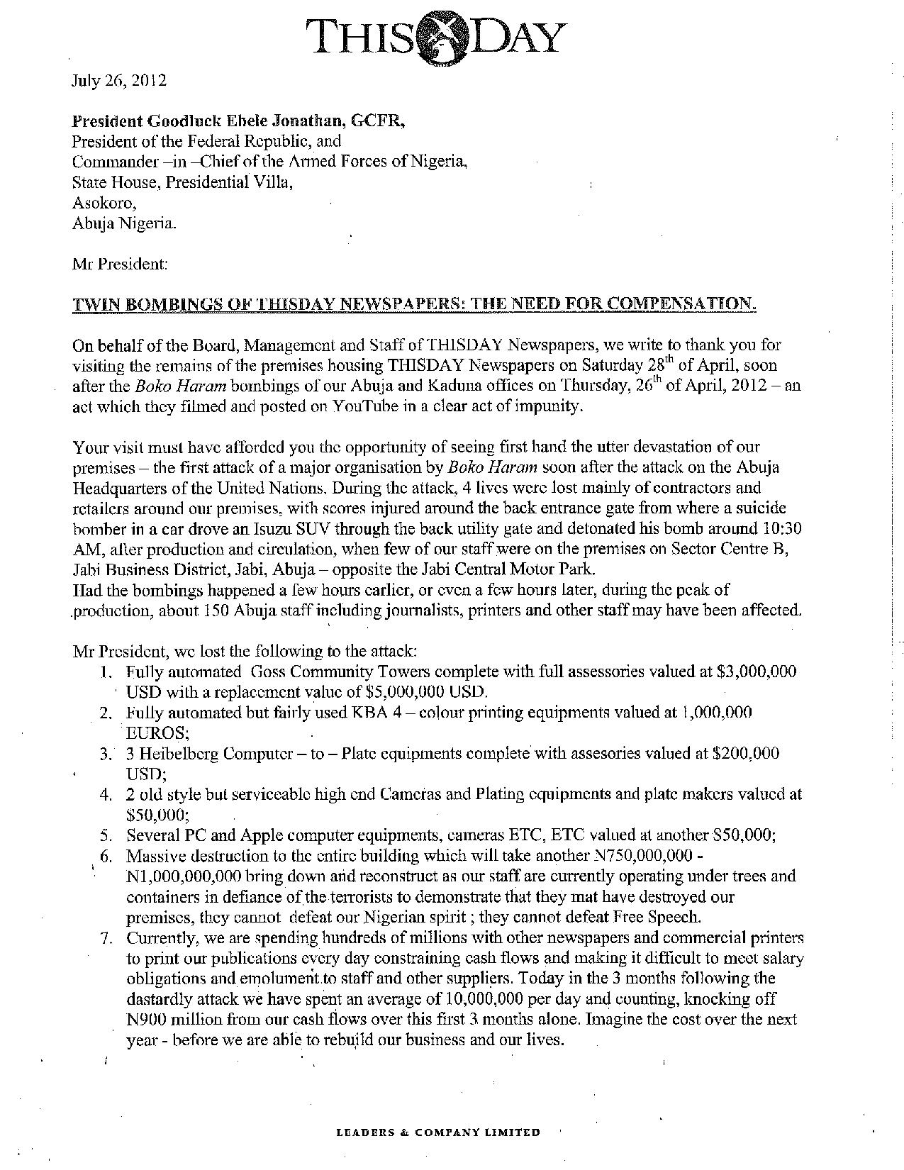 Obaigbena Writes EFCC, Explains Payments From Ex-NSA Dasuki | THEWILL