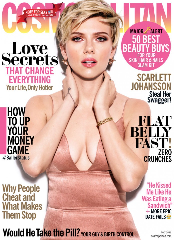 Cosmopolitan issue with breast exams images