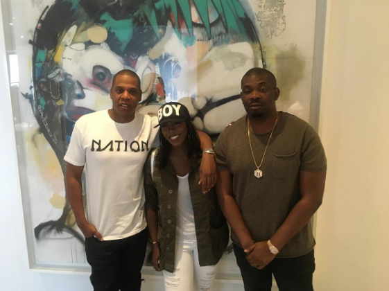 Tiwa Savage meets Jay Z in New York to sign deal with Roc