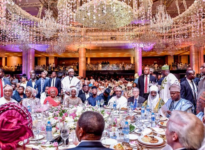 Photos Osinbajo Atiku Bill Gates Others Attend Dangotes