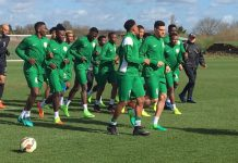 Super Eagles in training