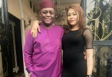 Femi Fani-Kayode with estranged wife, Precious Chikwendu | Photo Credit: WIthinnigeria