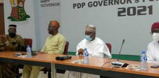 PDP Governors Meeting In Ibadan