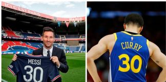 Lionel Messi & Curry of Golden State Warriors
