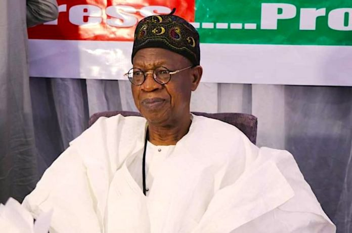 The Minister of information and Culture, Lai Mohammed