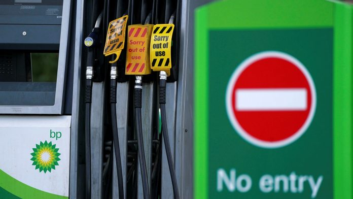 Fuel scarcity in the UK