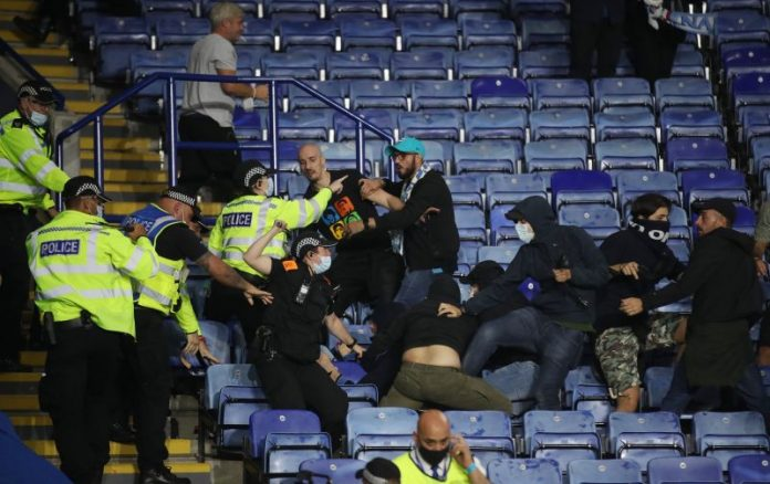 Napoli, Leicester Fans Clash