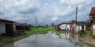 Pics of some houses submerged by Flood and gully erosion