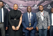 L-R: MD/CEO, Jewest Mobility, Mr Dikko Nwachukwu; AvanteFly's Founder and CEO, Brian Okonkwo; former acting Director-General of NCAA ,Engr Benedict Adeleyika; MD/CEO, Ezuma Jet, Capt David Augustine and another participant at the launch of AvanteFly Mobile app recently in Mariott Hotel, Ikeja, Lagos.