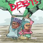 buhari & Minister of Finance, Budget and National Planning, Zainab Ahmed. caricature