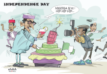 Independence day caricature